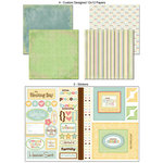 Scrapbook Customs - LDS Collection - 12 x 12 Scrapbook Kit - Baby Blessing