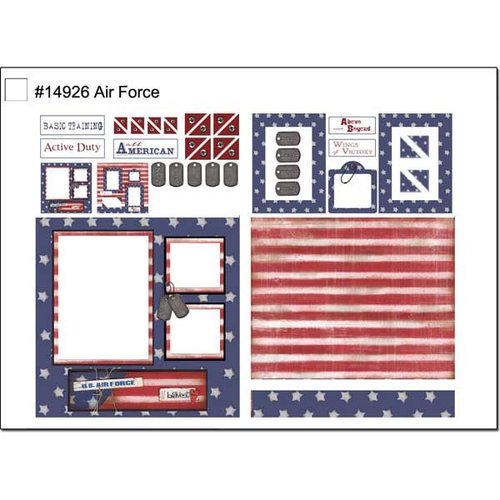 Scrapbook Customs - Military Collection - 12 x 12 Page Kit - Air Force