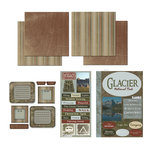 Scrapbook Customs - National Parks Scrapbook Kit - Glacier