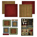 Scrapbook Customs - Patchwork Scrapbook Kit - Wisconsin