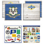 Scrapbook Customs - State Sightseeing Kit - Connecticut