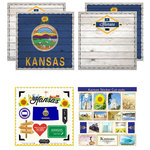 Scrapbook Customs - State Sightseeing Kit - Kansas