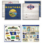 Scrapbook Customs - State Sightseeing Kit - Montana