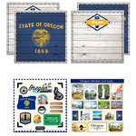 Scrapbook Customs - State Sightseeing Kit - Oregon