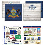 Scrapbook Customs - State Sightseeing Kit - Pennsylvania