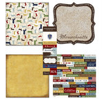 Scrapbook Customs - Chic Scrapbook Kit - Massachusetts