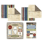 Scrapbook Customs - Lovely Scrapbook Kit - Illinois