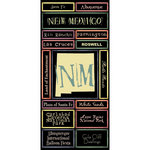 Scrapbook Customs - United States Collection - New Mexico - Cardstock Stickers - Map