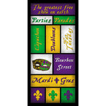 Scrapbook Customs - United States Collection - Louisiana - Cardstock Stickers - Mardi Gras