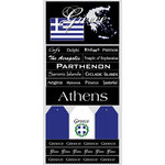 Scrapbook Customs - World Collection - Greece - Cardstock Stickers - Scratchy