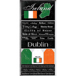 Scrapbook Customs - World Collection - Ireland - Cardstock Stickers - Scratchy