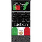 Scrapbook Customs - World Collection - Portugal - Cardstock Stickers - Scratchy
