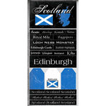 Scrapbook Customs - World Collection - Scotland - Cardstock Stickers - Scratchy