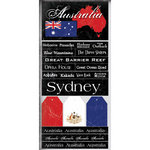 Scrapbook Customs - World Collection - Australia - Cardstock Stickers - Scratchy