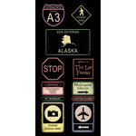 Scrapbook Customs - United States Collection - Alaska - Cardstock Stickers - Road Signs