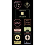 Scrapbook Customs - United States Collection - Arizona - Cardstock Stickers - Road Signs