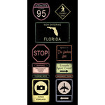 Scrapbook Customs - United States Collection - Florida - Cardstock Stickers - Road Signs