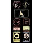 Scrapbook Customs - United States Collection - Idaho - Cardstock Stickers - Road Signs