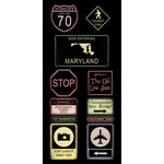 Scrapbook Customs - United States Collection - Maryland - Cardstock Stickers - Road Signs