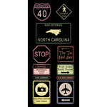 Scrapbook Customs - United States Collection - North Carolina - Cardstock Stickers - Road Signs