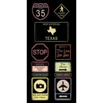 Scrapbook Customs - United States Collection - Texas - Cardstock Stickers - Road Signs