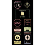 Scrapbook Customs - United States Collection - Utah - Cardstock Stickers - Road Signs