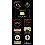 Scrapbook Customs - United States Collection - Wyoming - Cardstock Stickers - Road Signs