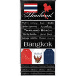 Scrapbook Customs - World Collection - Thailand - Cardstock Stickers - Scratchy