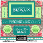 Scrapbook Customs - World Collection - Puerto Rico - Cardstock Stickers - Bon Voyage