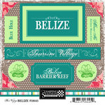 Scrapbook Customs - World Collection - Belize - Cardstock Stickers - Bon Voyage