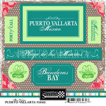 Scrapbook Customs - World Collection - Mexico - Cardstock Stickers - Puerto Vallarta - Bon Voyage