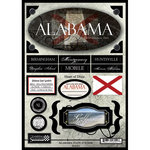 Scrapbook Customs - United States Collection - Alabama - State Cardstock Stickers - Travel
