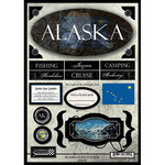 Scrapbook Customs - United States Collection - Alaska - State Cardstock Stickers - Travel