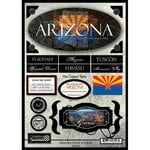 Scrapbook Customs - United States Collection - Arizona - State Cardstock Stickers - Travel