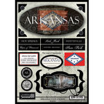 Scrapbook Customs - United States Collection - Arkansas - State Cardstock Stickers - Travel