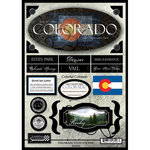 Scrapbook Customs - United States Collection - Colorado - State Cardstock Stickers - Travel