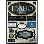 Scrapbook Customs - United States Collection - Idaho - State Cardstock Stickers - Travel