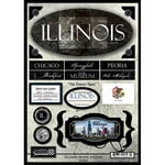 Scrapbook Customs - United States Collection - Illinois - State Cardstock Stickers - Travel