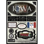 Scrapbook Customs - United States Collection - Iowa - State Cardstock Stickers - Travel