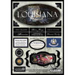 Scrapbook Customs - United States Collection - Louisiana - State Cardstock Stickers - Travel