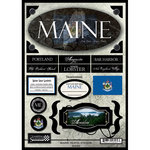 Scrapbook Customs - United States Collection - Maine - State Cardstock Stickers - Travel