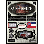 Scrapbook Customs - United States Collection - Mississippi - State Cardstock Stickers - Travel