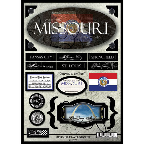 Scrapbook Customs - United States Collection - Missouri - State Cardstock Stickers - Travel
