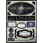 Scrapbook Customs - United States Collection - New Hampshire - State Cardstock Stickers - Travel