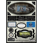 Scrapbook Customs - United States Collection - North Dakota - State Cardstock Stickers - Travel