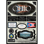 Scrapbook Customs - United States Collection - Ohio - State Cardstock Stickers - Travel