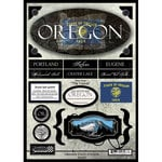Scrapbook Customs - United States Collection - Oregon - State Cardstock Stickers - Travel