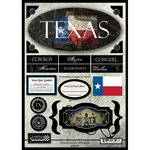 Scrapbook Customs - United States Collection - Texas - State Cardstock Stickers - Travel