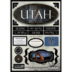 Scrapbook Customs - United States Collection - Utah - State Cardstock Stickers - Travel