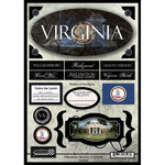 Scrapbook Customs - United States Collection - Virginia - State Cardstock Stickers - Travel